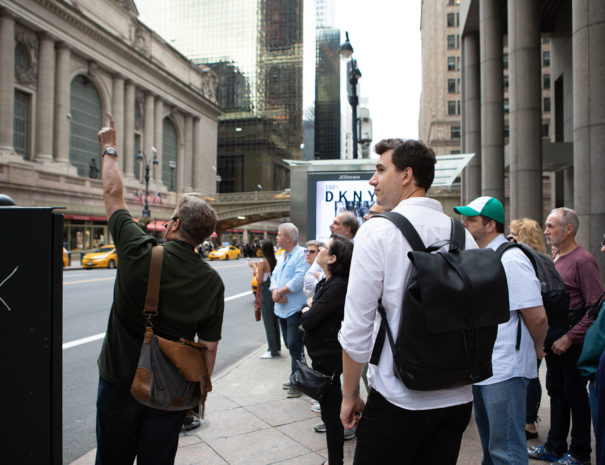 Tour group outside Grand Central