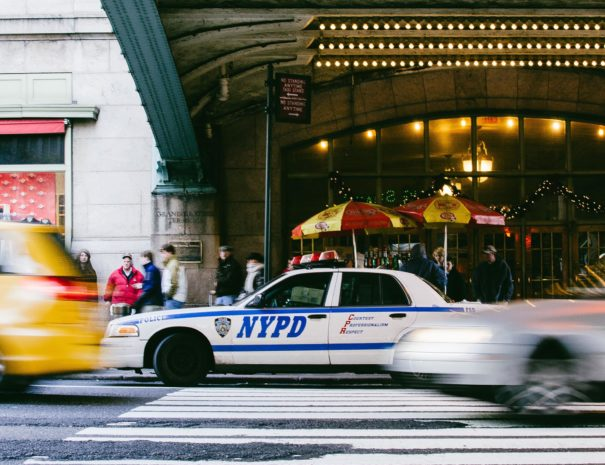 NYPD Car in front of Grand Central