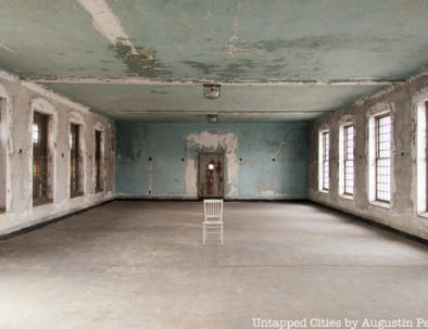 Ellis Island Abandoned Hospital empty room