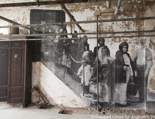 Ellis Island Abandoned Hospital staircase