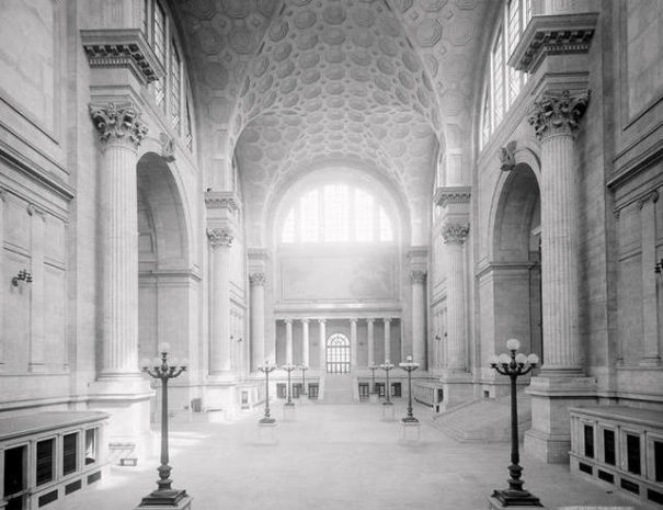 Historic photo of Penn Station interior