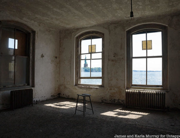 Statue of Liberty viewed from the Ellis Island Abandoned Hospital