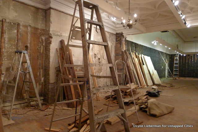 The main gallery under renovation