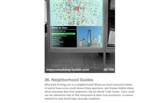 100 Improvements to the Subway-Randy Gregory Design-SVA-Branding-NYC MTA-Neighborhood Guides