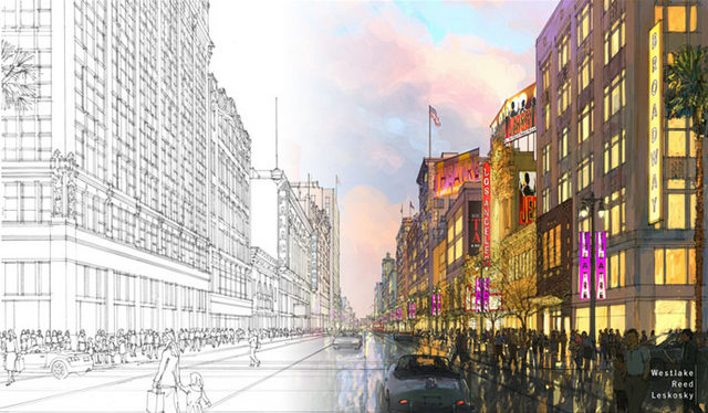 Bringing Back Broadway-Los Angeles-Rendering