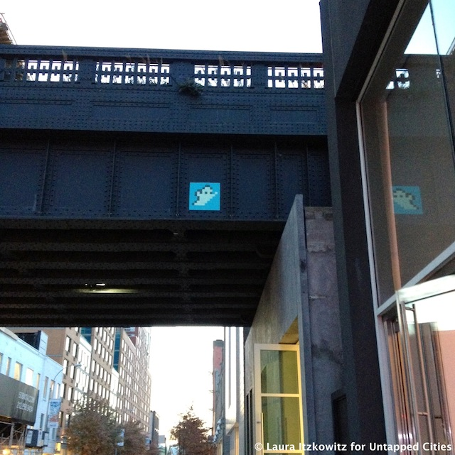 Invader on High Line W 24th St 10th Ave Chelsea NYC Untapped Cities