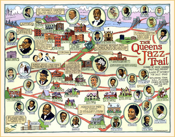 Queens Jazz Trail Untapped Cities fun maps