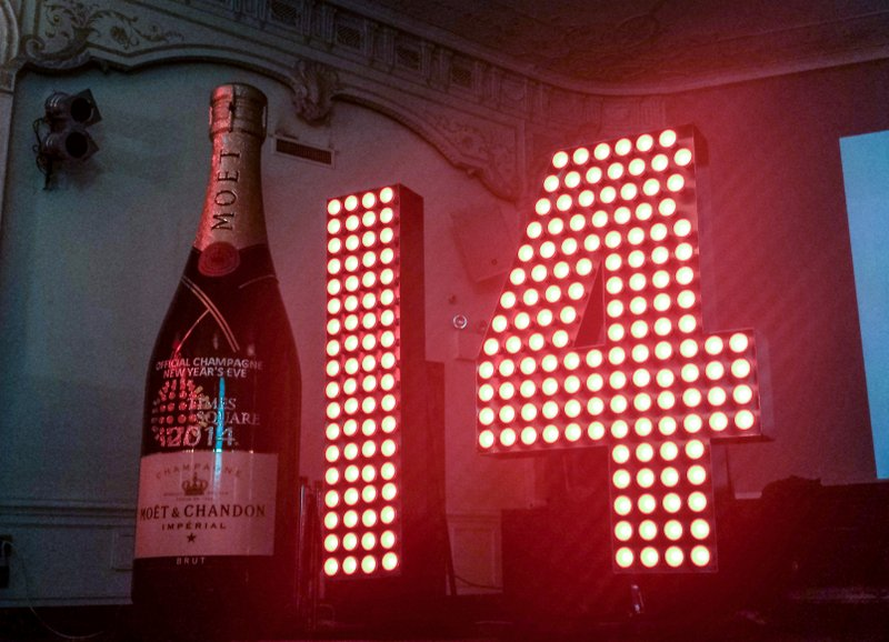 See the Huge New Year's Eve Numbers on Display at Times Square Visitors Center until December 26