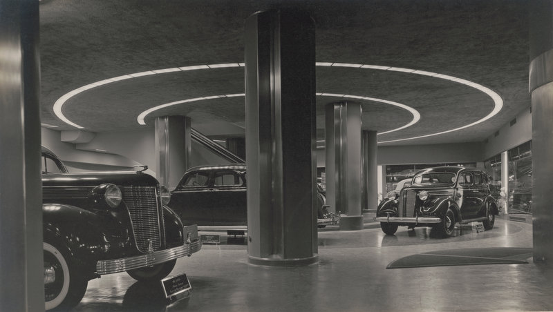Chrysler Building auto showroom