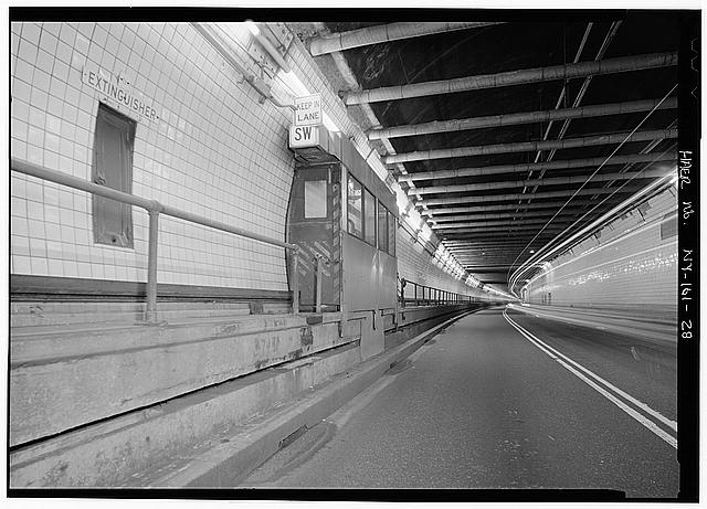 Inside View of the Holland Tunnel Vintage NYC Photography Untapped Cities Sabrina Romano