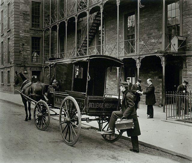 Bellevue Hospital Ambulance-1895-Vintage Photograph-NY-Byron Collection-MCNY-NYTimes Store