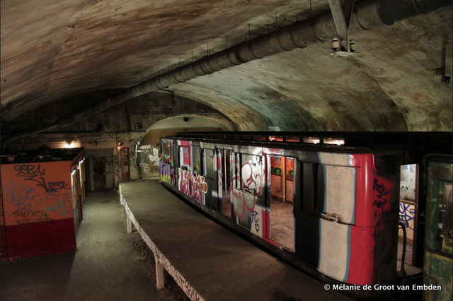 Paris-Metro Station Villiers-Storage Track-Abandoned Metro Subway Trains.23 AM