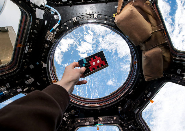 There's Now a Space Invader in the International Space Station