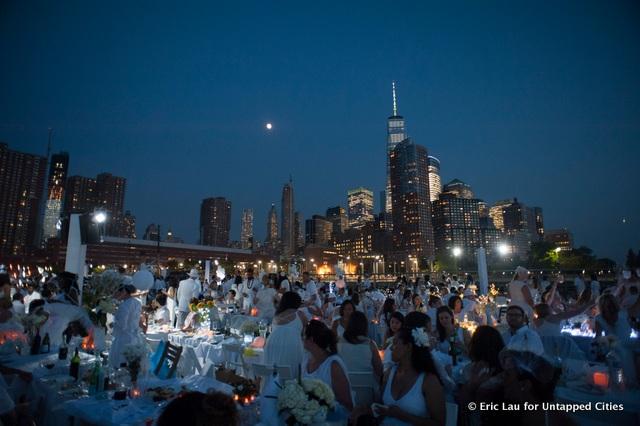 NYC-Diner en Blanc-2015-Hudson River Park-Pop Up White Dinner-027