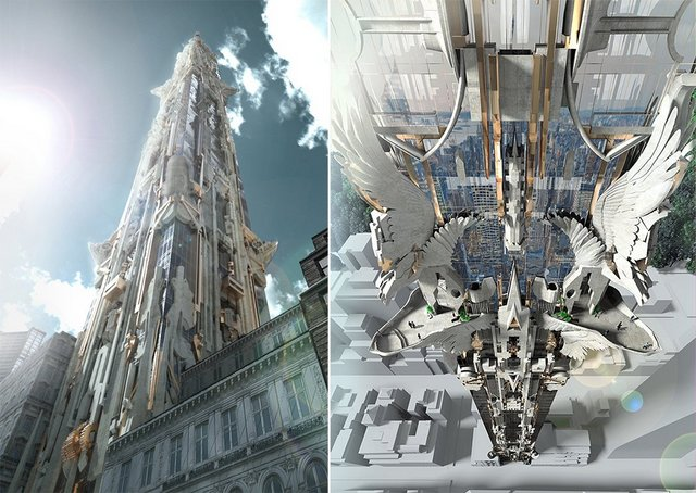 A Fantastical Proposed Skyscraper for NYC's Billionaire Row by Mark Foster Gage