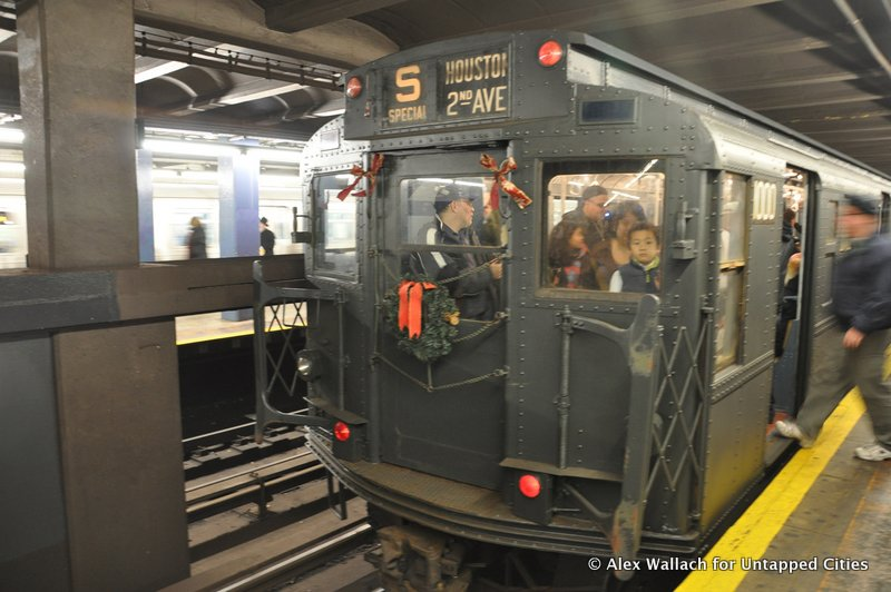 MTA Hosts Vintage Subway Swing Party With Nostalgia Holiday Trains