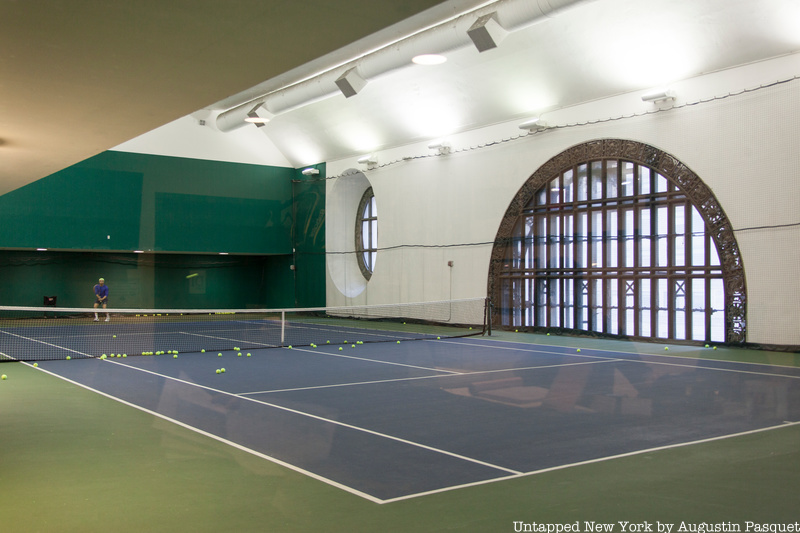 Tennis court in grand central