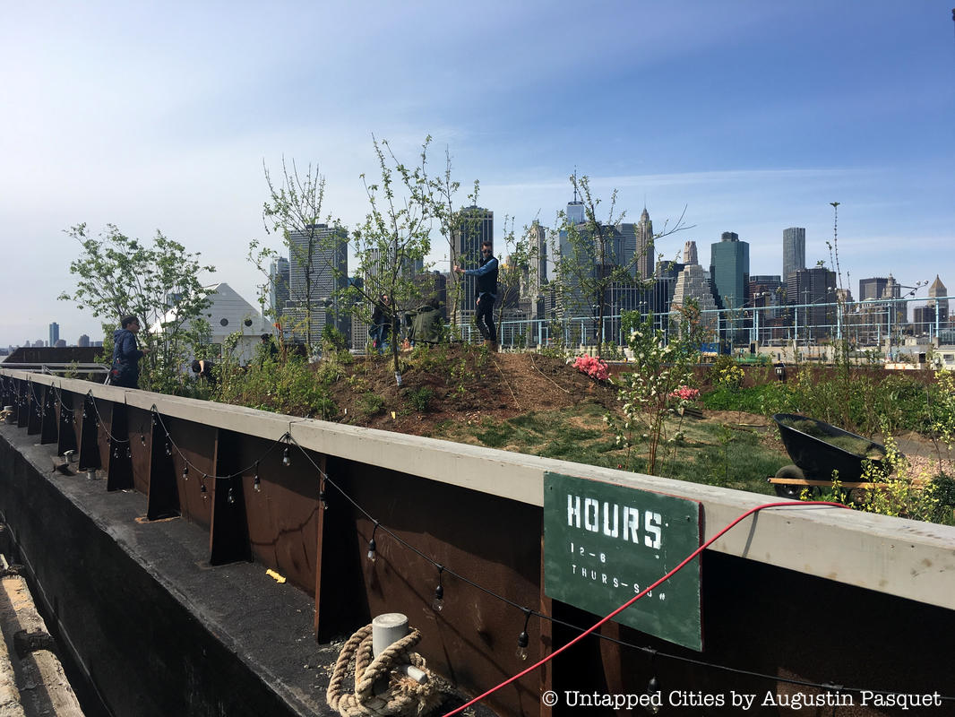 Swale, the Floating Food Forest on a Barge Opens at Brooklyn Bridge Park