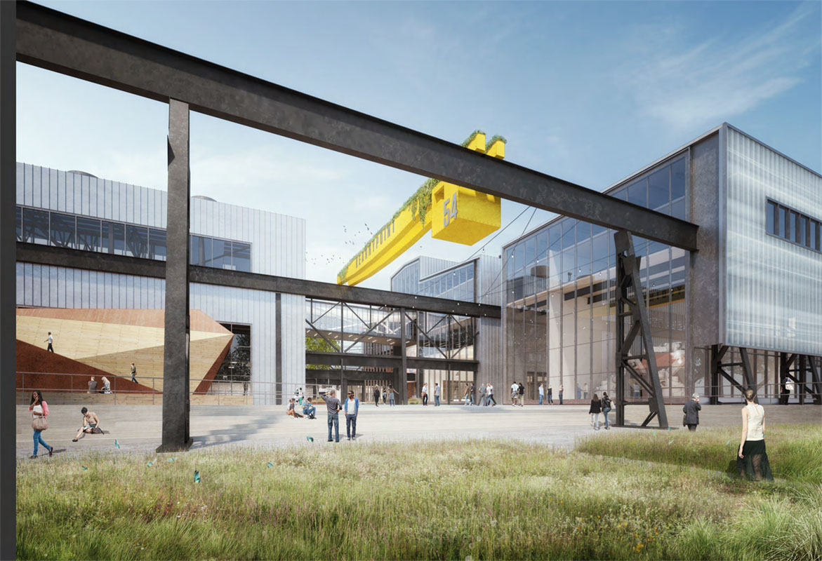 Latest Renderings for Kearny Point, New Jersey's Former Shipyard Being Transformed into a Small Business Hub