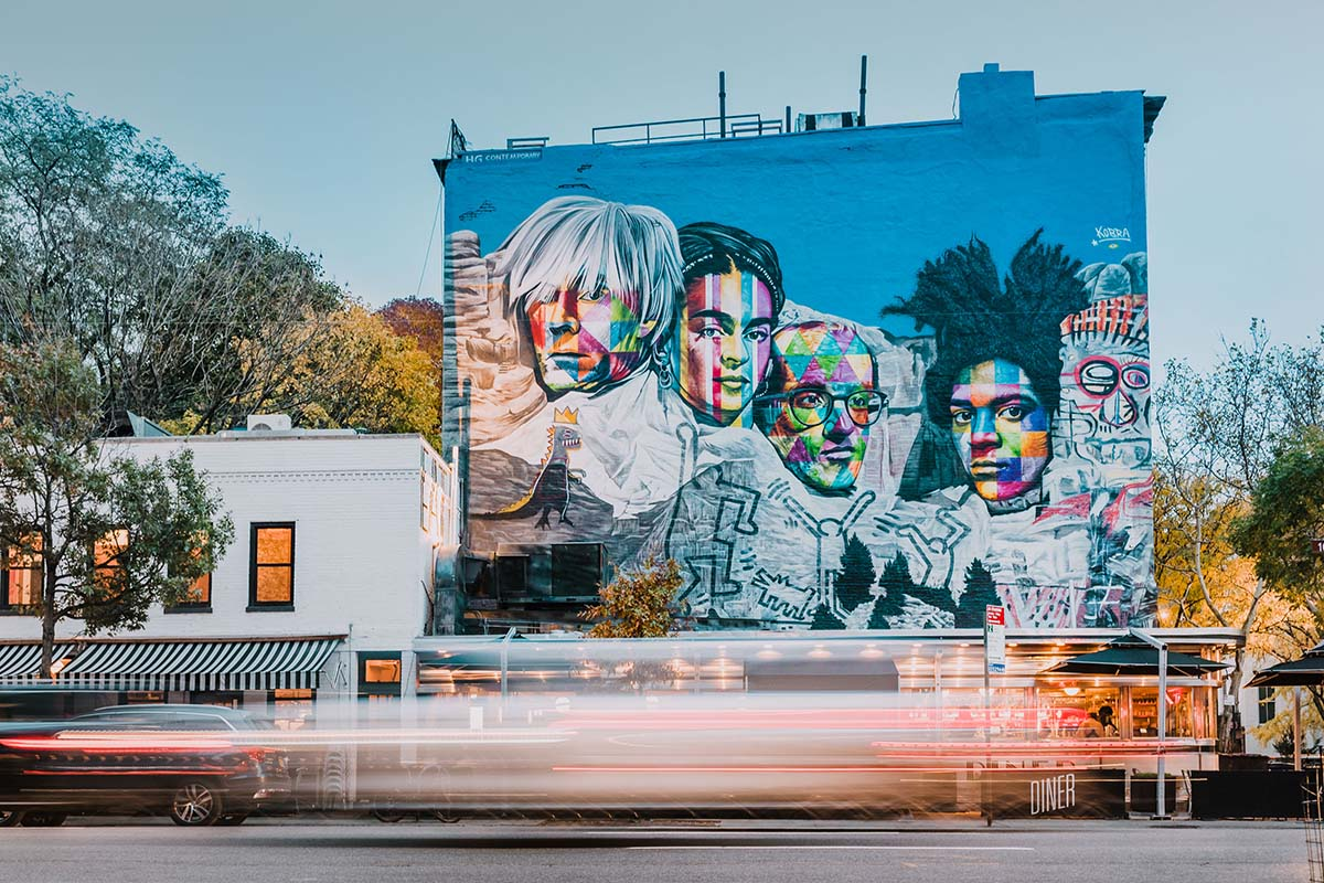 See all 18 of the Stunning, Colorful Street Art Murals by Kobra in NYC