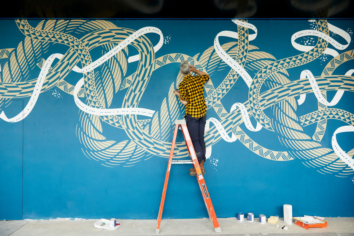 First Look at New Murals Inside Dock 72 at the Brooklyn Navy Yard