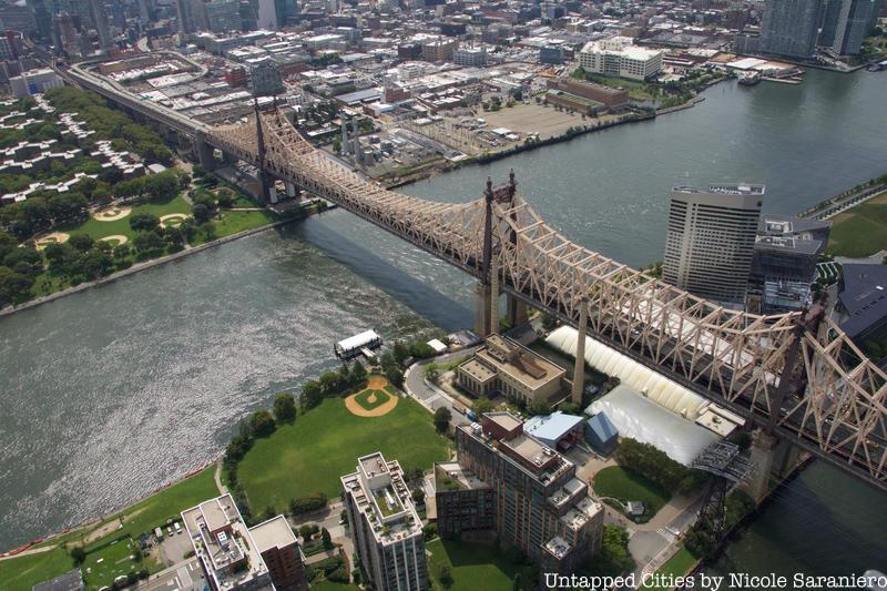 Aerial of Roosevelt Island