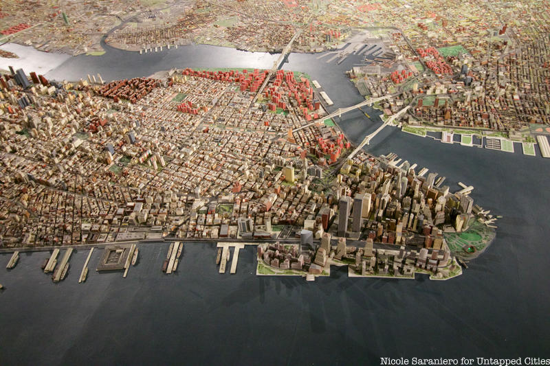 Part of the Panorama of the City of New York at the Queens Museum