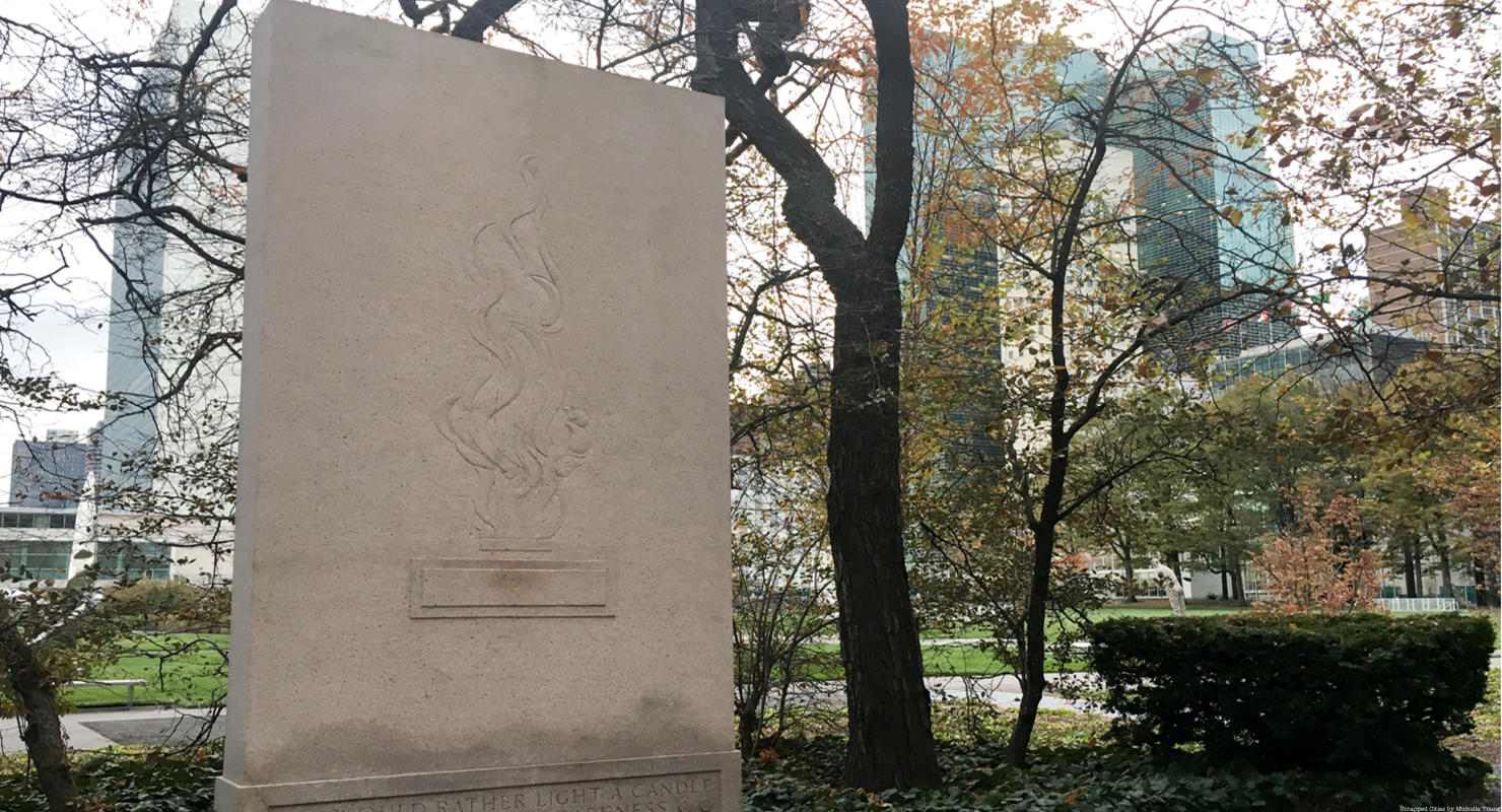 A Forgotten Memorial to Eleanor Roosevelt Sits in the UN Sculpture Garden