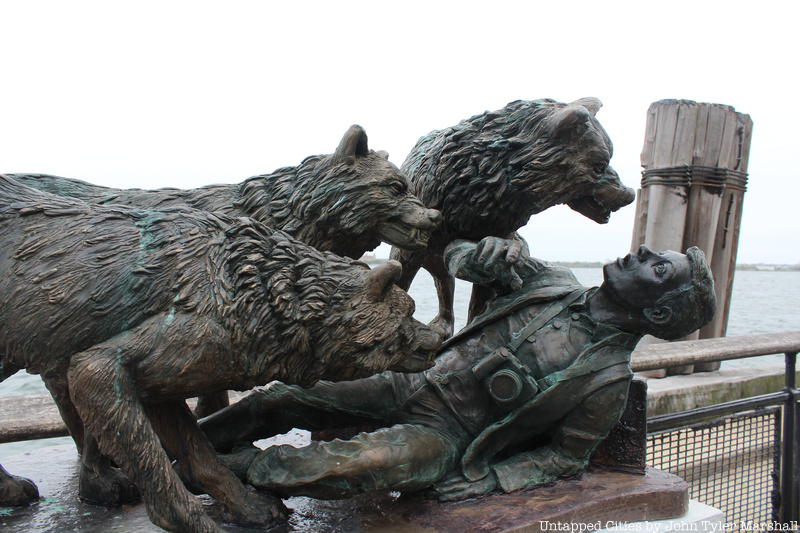 A Monument To Missing Tourists Taken By Wolves Appears In Battery Park Untapped New York