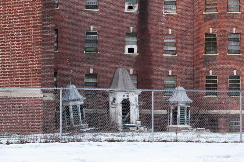Turrets at abandoned Fairfield Hills State Hospital