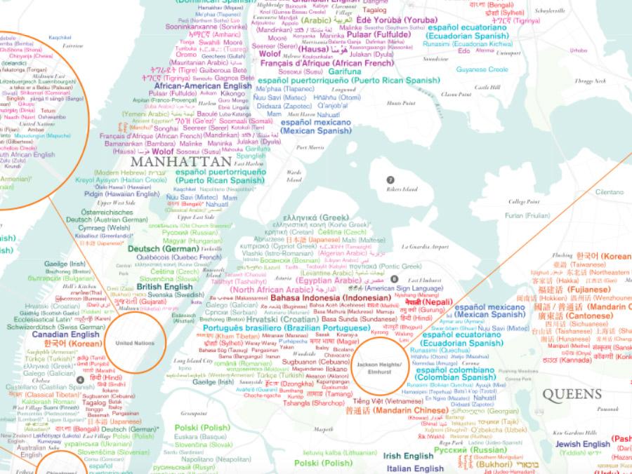 Endangered Language Alliance-NYC Language Diversity-Map