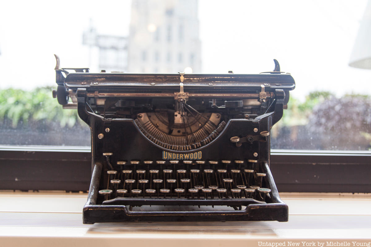 Vintage Typewriters Abound in the Bankers Club Atop the Equitable Building
