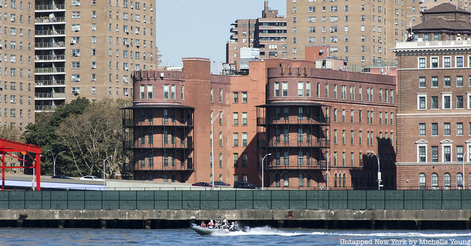 Gouverneur Hospital from the Hudson River