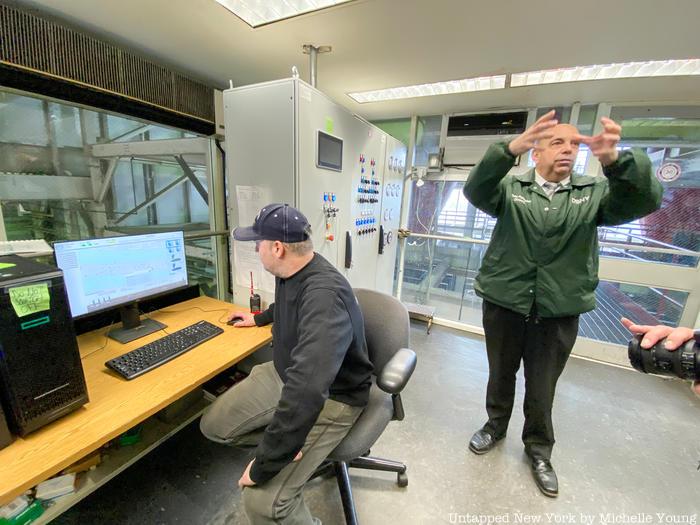 Inside control room at AVAC facility