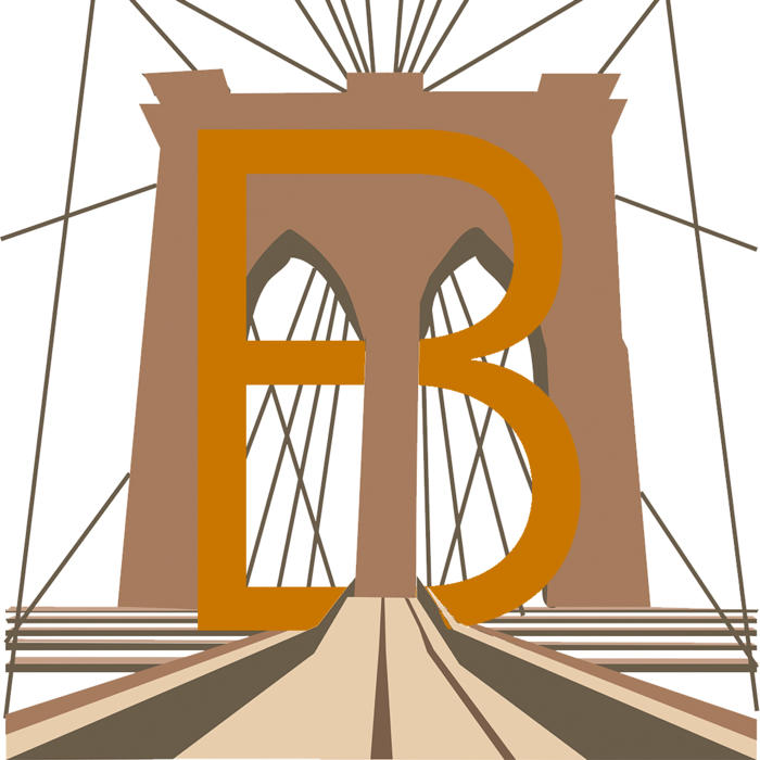 Brooklyn Bridge Alphabet illlustration