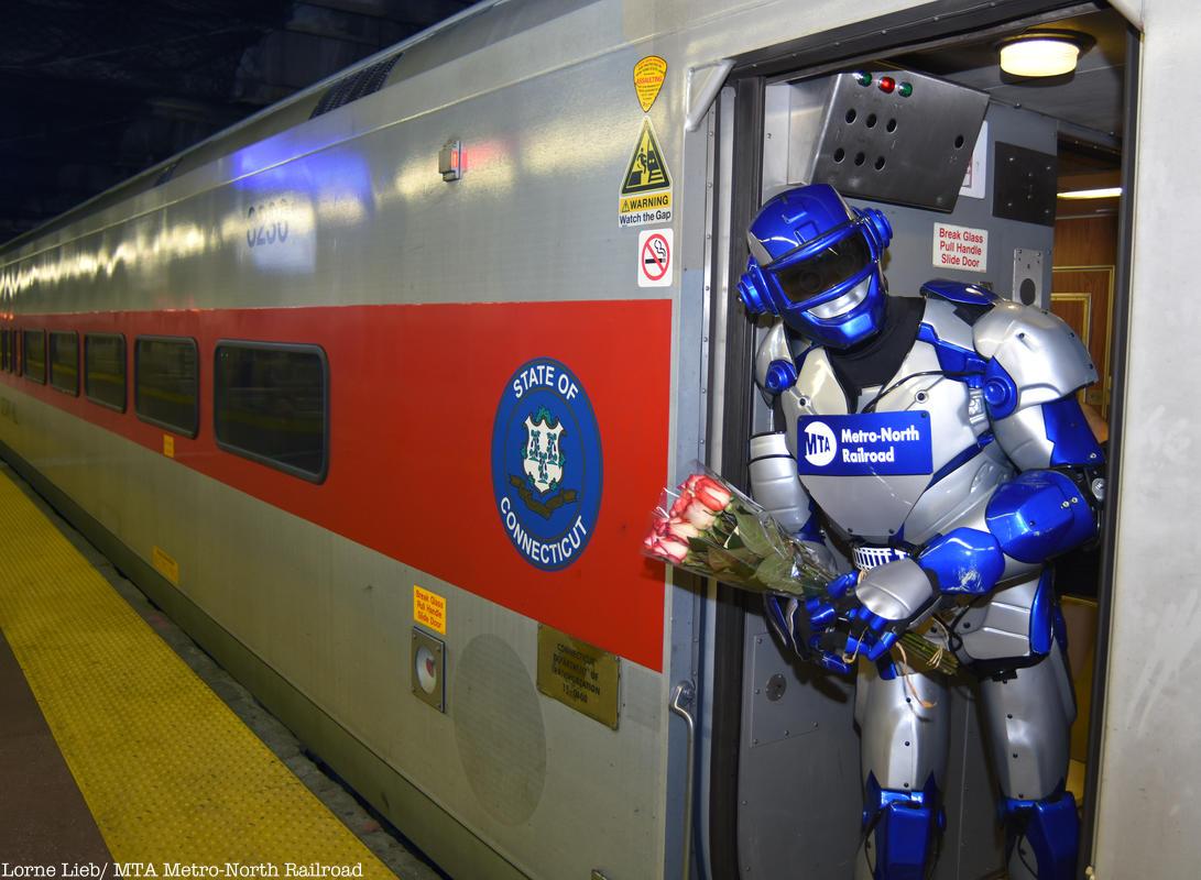 Metro Man on Metro North train