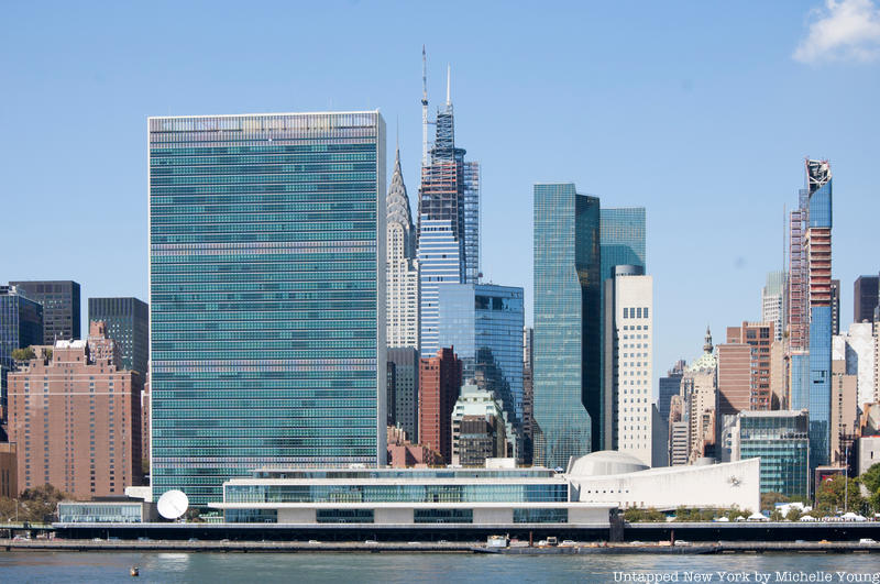 United Nations Exterior from East River