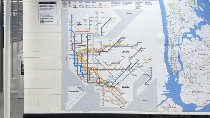 Nyc Subway And Street Map.New Nyc Subway Map Designs On Display At Brooklyn Station Untapped New York