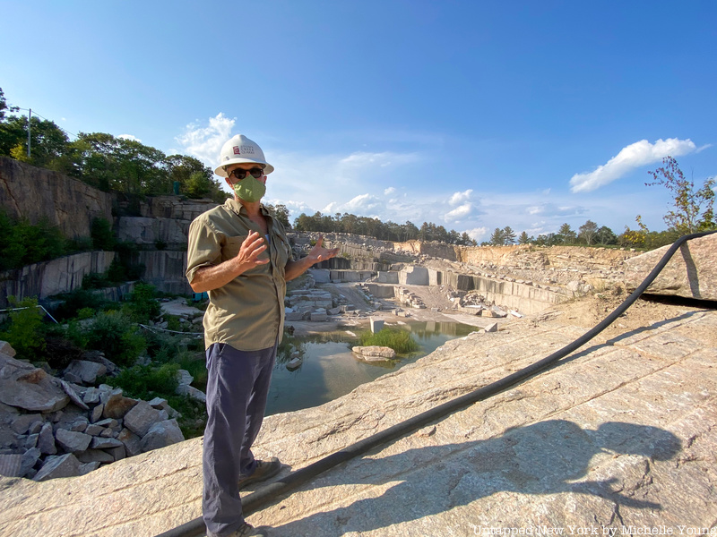 Sculptor Darrell Petit at Stony Creek Quarry