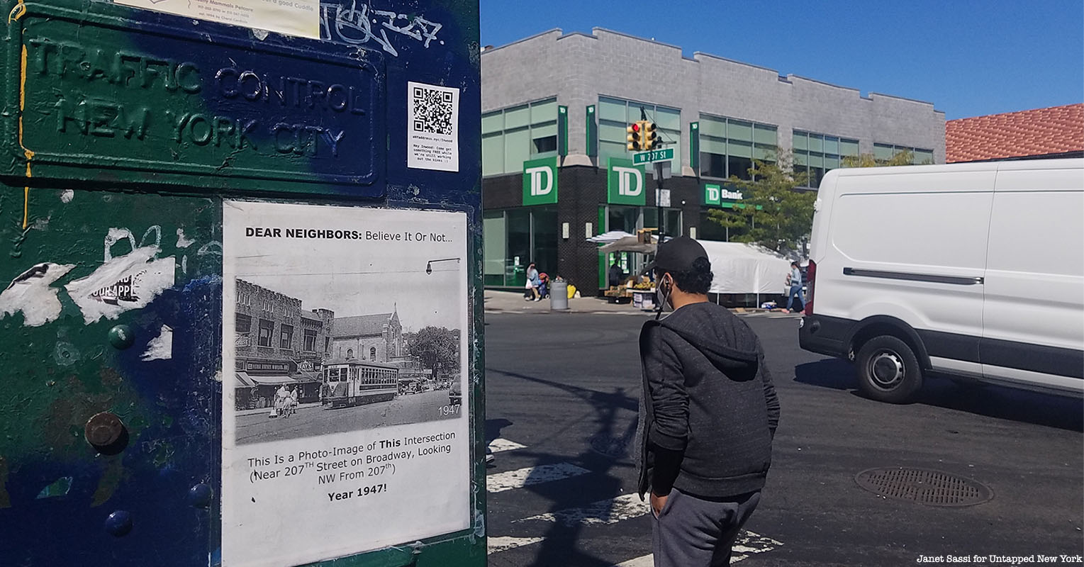 Washington Heights historic sign project