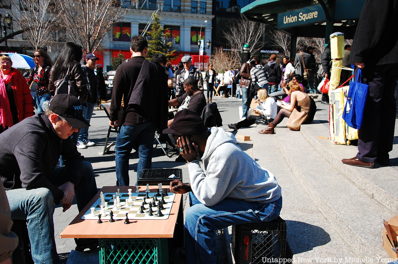Chess playing in Union Square