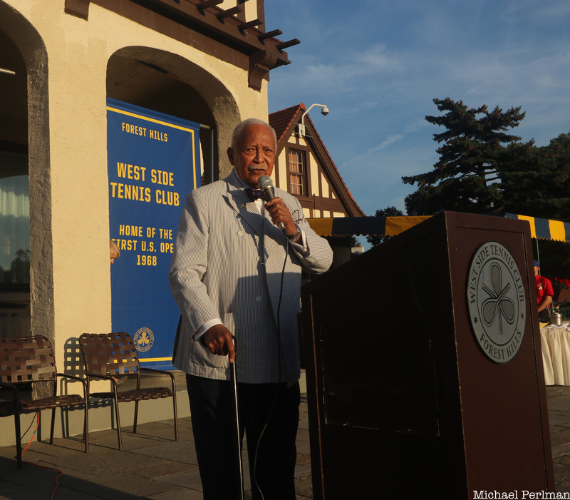 Mayor David Dinkins at West Side Tennis Club