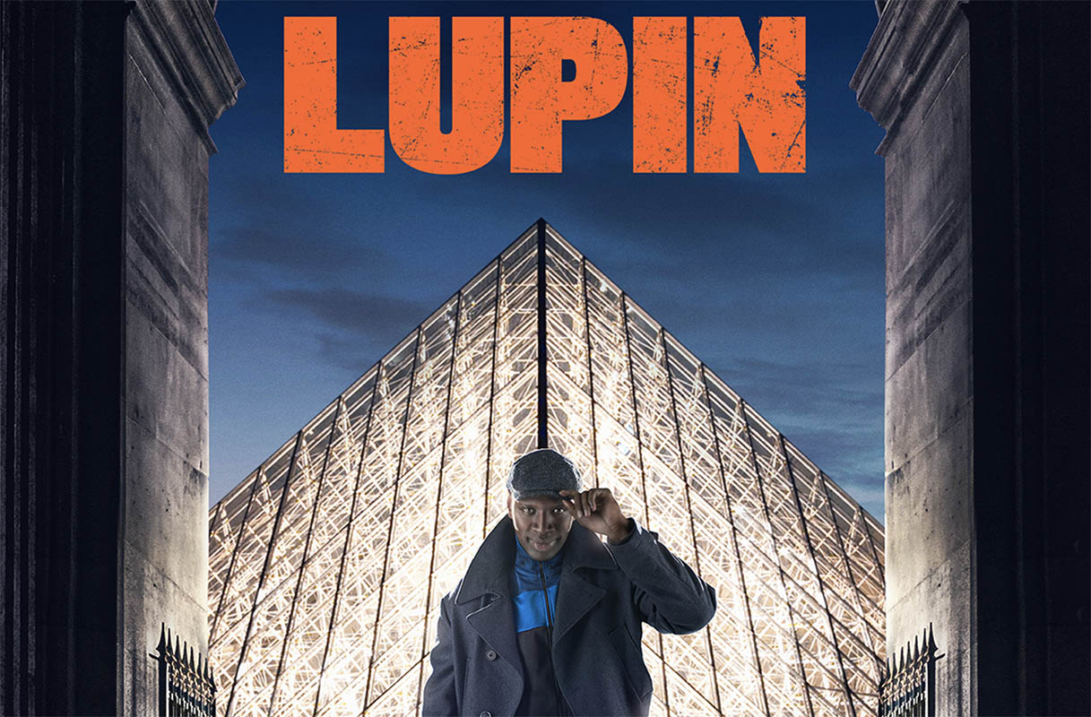 Lupin Poster with Omar Sy at the Louvre