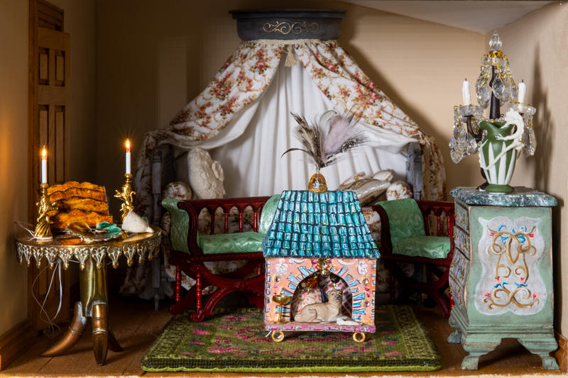 Inside of room, The Fisher Dollhouse: A Venetian Palazzo in Miniature