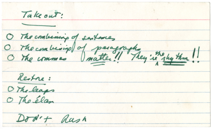 """""""What you have to do today"""" note, ca. 2010. Courtesy of Robert A. Caro Archive, Patricia D. Klingenstein Library, New-York Historical Society"""